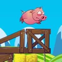 Cochon qui court rose