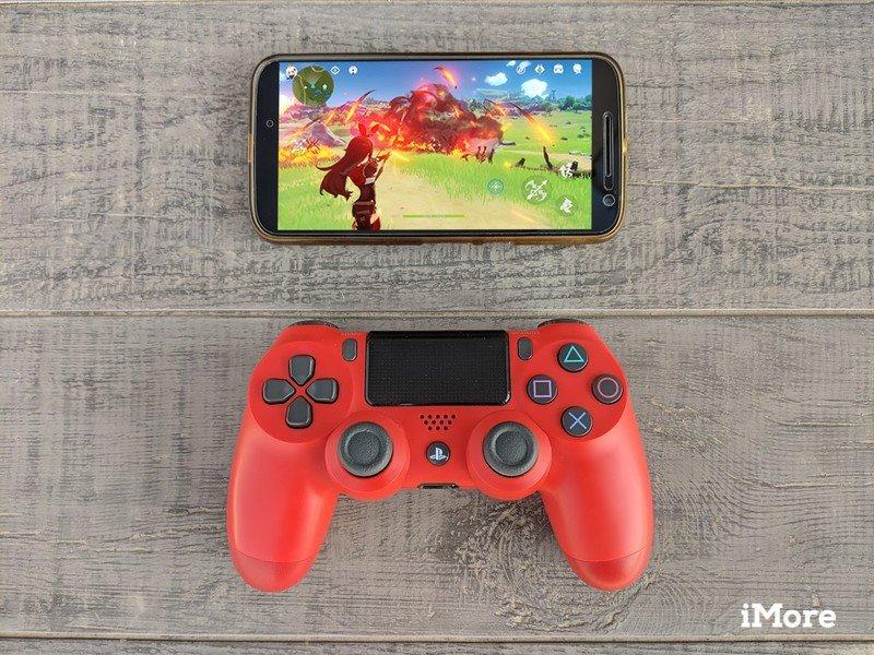 Manette PS4 avec téléphone