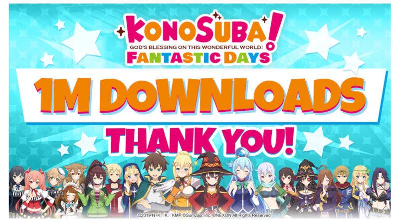 Le nouveau jeuRPG mobile KonoSuba: Fantastic Days dépasse les 1million de téléchargements