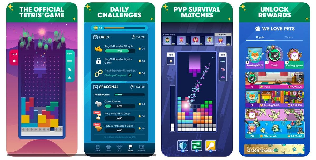 """Vous pouvez mettre en place un """"Tetris ensemble"""" match dans l'application iPhone pour jouer avec vos amis."""